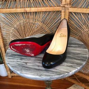 Christian Louboutin 37 1/2 black heels (7 1/2)